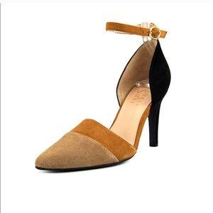 Franco Sarto camel black suede heel  Aiko